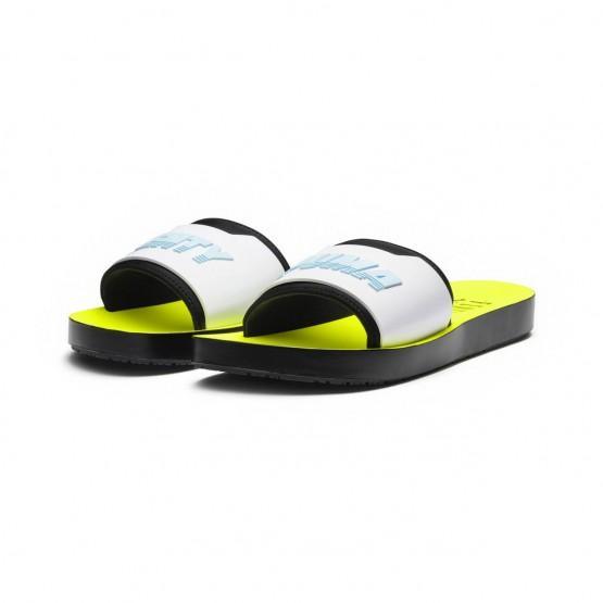 Puma FENTY Shoes Womens Black-White-Yellow (103TAQZF)