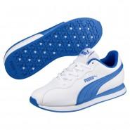 Puma Turin Shoes Boys White-Strong Blue (106ELXGQ)