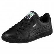 Puma Basket Classic Shoes Boys Black-Black (107EWIFK)