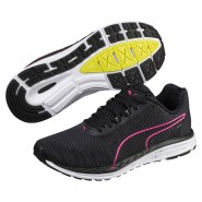 Puma Speed Running Shoes Womens Black-Irongate-Knockoutpink (112UKNRB)
