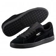 Puma Suede Shoes Boys Black-Silver (114VQCAN)