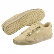 Puma Suede Classic Shoes Boys Reed Yellow-Metallic Gold (122DSZFX)