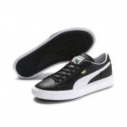 Puma Breaker Shoes Mens Black-White (126CRKFM)