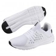 Puma Enzo Shoes Mens White-Black (132XRBCW)