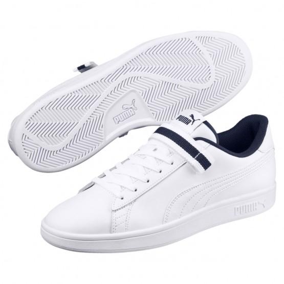 Puma Smash Shoes Mens Wh-Wh-Peacoat (142VDBSQ)