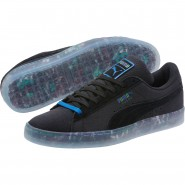 Puma Suede Classic Shoes Mens Black-Royal (143DPGZH)