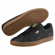 Puma Basket Classic Shoes Mens Black-Metallic Gold (144XRTSO)