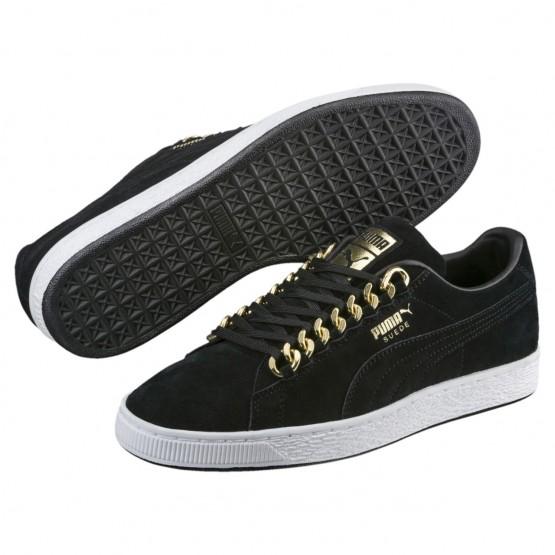 Puma Suede Classic Shoes Mens Black-Metallic Gold (151GELUB)
