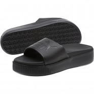 Puma Platform Sandals Womens Black-Black (154XYABD)