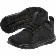 Puma Enzo Shoes Boys Black (161TPMNU)