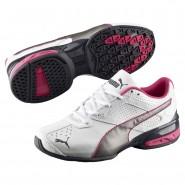 Puma Tazon 6 Shoes Boys Wh-Aged Silv-Beetroot Purple (163RMBOG)
