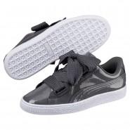 Puma Basket Heart Shoes Womens Iron Gate-Iron Gate (163YFODU)