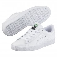 Puma Basket Classic Shoes Boys White-White (164FWUCZ)
