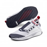 Puma Evolution Lifestyle Shoes Mens Pwhite-Peacoat-Rred (165KHFJI)