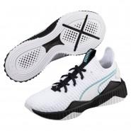 Puma Defy Shoes Girls White-Black-Aquifer (169ITGZL)