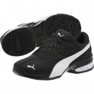 Puma Tazon 6 Shoes Boys Black-White (172TUYSO)