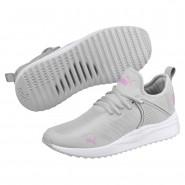 Puma Pacer Next Shoes Boys Gray Violet-Orchid (183ERDMF)