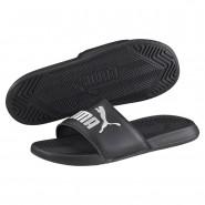 Puma Popcat Sandals Mens Black-Black-White (193KBZSY)