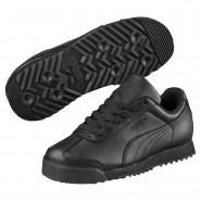 Puma Roma Basic Shoes Boys Black-Black (197PVJWO)