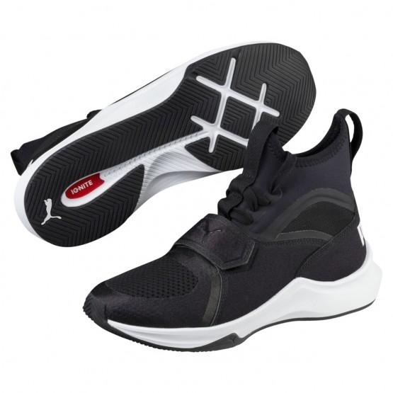 Puma Phenom Shoes Girls Black-White (199IXLME)