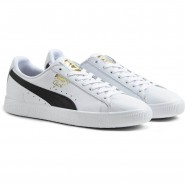 Puma Clyde Shoes Mens White-Black-Team Gold (200WXVZU)