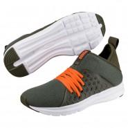 Puma Enzo Running Shoes Mens Forest Night-Firecracker (210KBPLO)