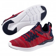 Puma IGNITE Flash Shoes Boys Ribbon Red-Peacoat-White (211IFTSW)