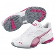 Puma Tazon 6 Training Shoes Womens White-Fuchsia Purple-Silver (229NMFPC)