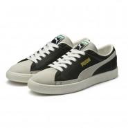 Puma Basket 90680 Shoes Mens Black-White (229RDQIF)