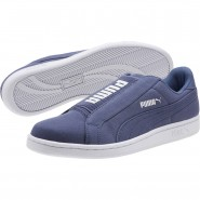 Puma Smash Lifestyle Shoes Womens Blue Indigo-White (232FXJPH)
