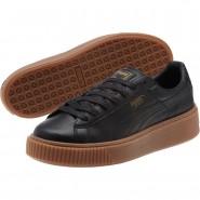 Puma Basket Platform Shoes Womens Black-Black (237TPVHU)