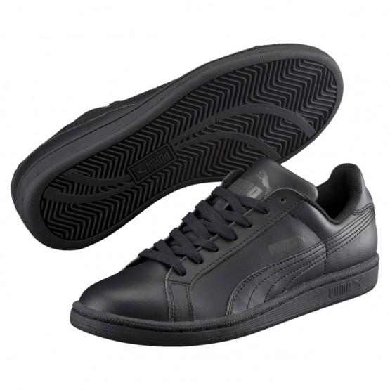 Puma Smash Shoes Boys Black-Black (239CJYQD)
