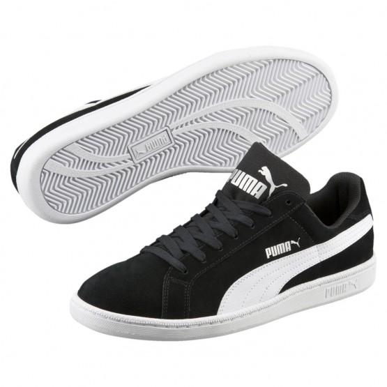 Puma Smash Shoes Mens Black-White (241VLNIH)