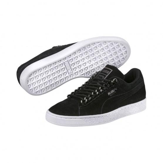 Puma Suede Classic Shoes Womens Black-Aged Silver (245MNJUI)