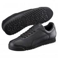 Puma Roma Shoes Mens Black-Black (253BLJDO)