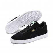 Puma Suede Classic Shoes Mens Black-Team Gold-White (254NGOAF)