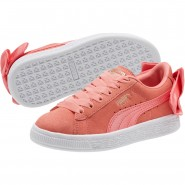 Puma Suede Bow Shoes Girls Shell Pink-Shell Pink (263JOTKX)
