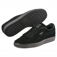 Puma Suede Classic Shoes Boys Black-Black (266XHQWM)