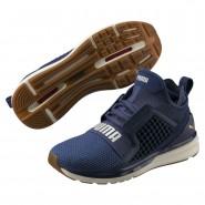 Puma IGNITE Limitless Running Shoes Womens Blue Indigo-Whisper White (270EJUDK)
