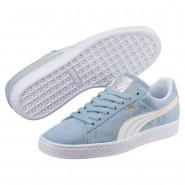 Puma Suede Shoes Womens Cerulean-White (274FMHUT)