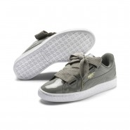 Puma Basket Heart Shoes Womens Rock Ridge-Rock Ridge (274RCFGW)