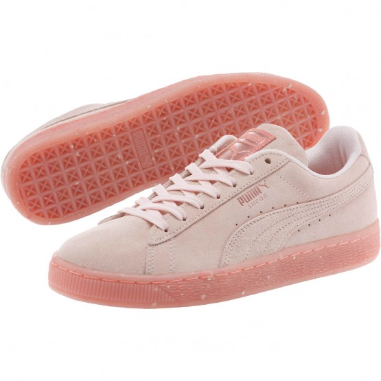 Puma Suede Classic Shoes Womens Shell Pink-Shell Pink (281CELMB)