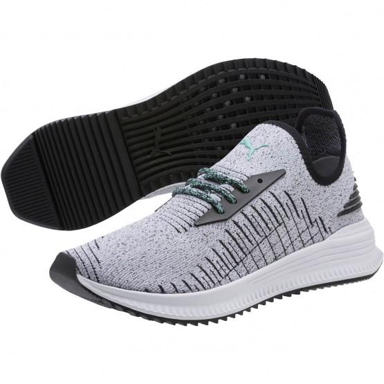 Puma AVID EVOKNIT Shoes Mens White-Black-Diamond Blue (281QVAWI)