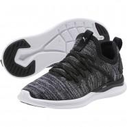 Puma IGNITE Flash Shoes Boys Black-Asphalt-White (285DVGQW)
