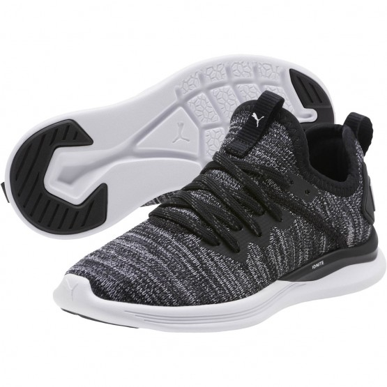 Puma IGNITE Flash Shoes Boys Black-Asphalt-White (285DVGQW)