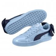 Puma Basket Bow Shoes Girls Cerulean-Peacoat (289YRZAI)
