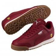 Puma Scuderia Ferrari Shoes Boys Pomegranate-Pomegranate (291ZPNUH)