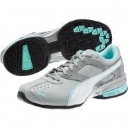 Puma Tazon 6 Training Shoes Womens Quarry-White-Aruba Blue (305QIGFB)