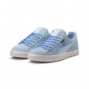 Puma Clyde Shoes Mens Cool Blue-Omphalodes-G Gray (307JOQGM)