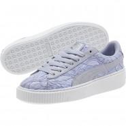 Puma Basket Platform Shoes Womens Icelandic Blue (308FJPTW)